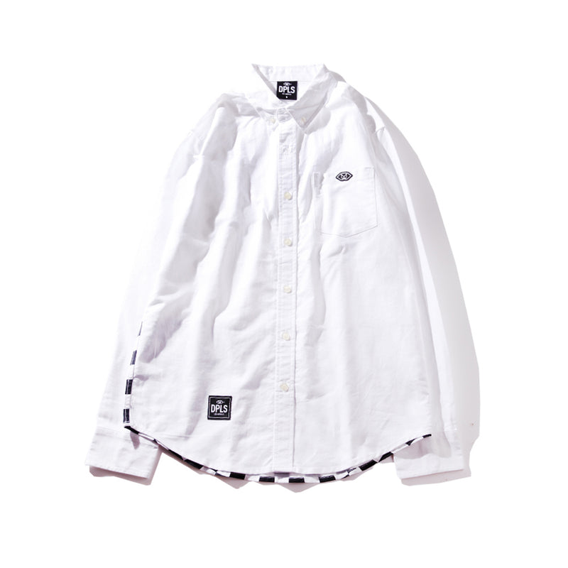 CHECKERED BLOCKED SHIRT - WHITE