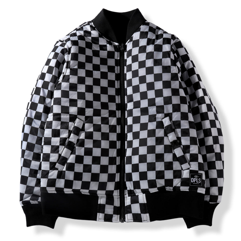 DPLS REV BOMBER JACKET - BLACK (1487355347015)