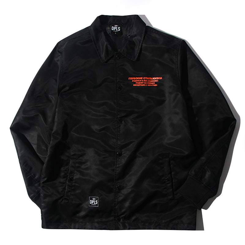 DPLS SLAVIC COACH JACKET - BLACK