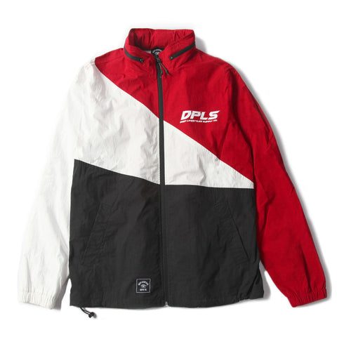 COLOR BLOCK JACKET - RED MULTI