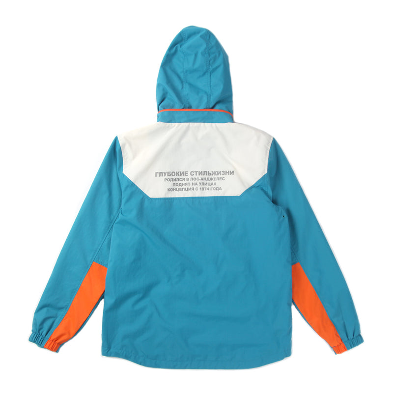 DPLS SLAVIC TRACK JACKET - ORANGE/TEAL