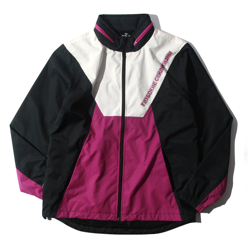 DPLS SLAVIC TRACK JACKET - PURPLE/BLACK