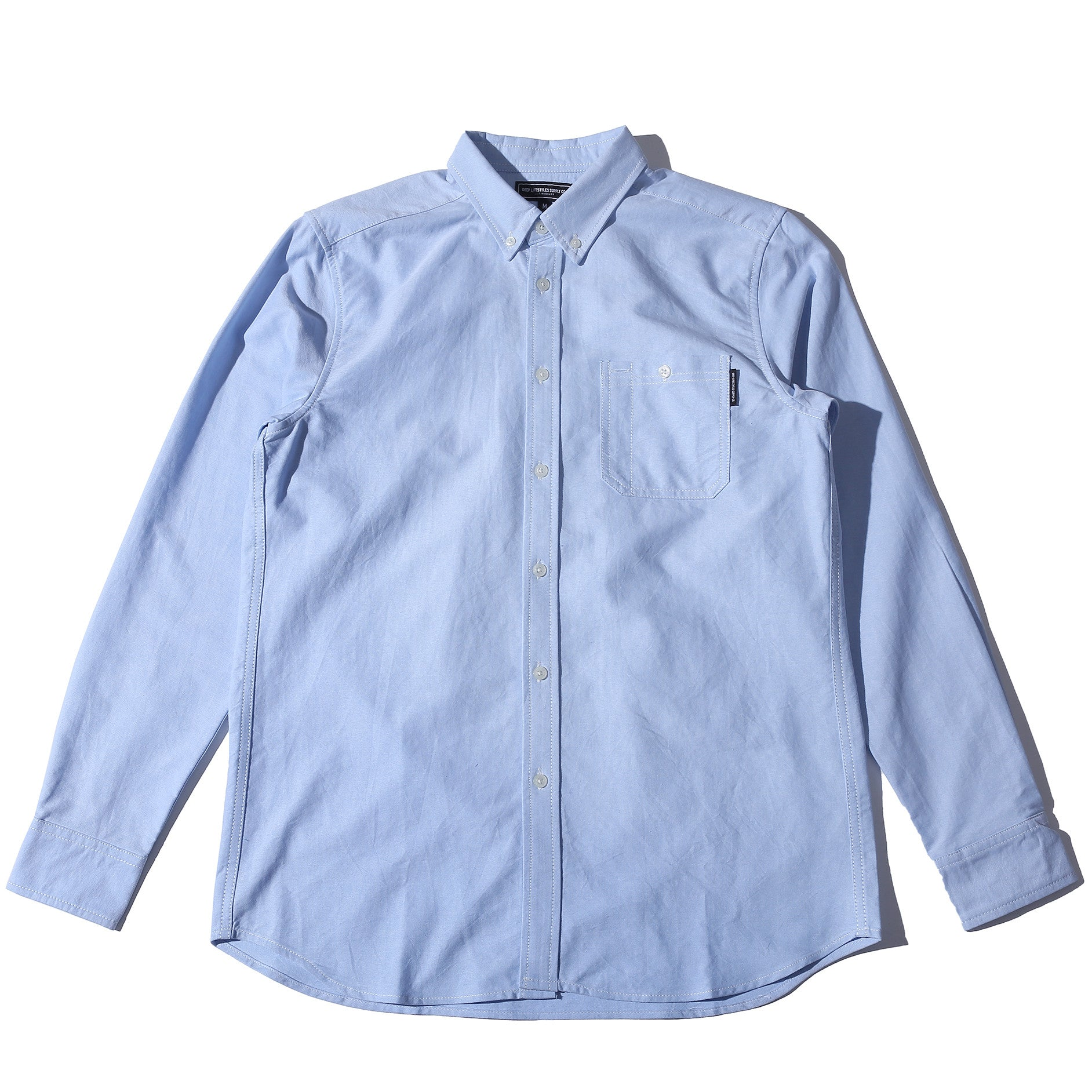 DL SUPPLY CO OXFORD SHIRT - BLUE