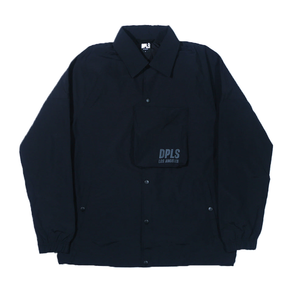 DPLS TECH COACH JACKET - BLACK