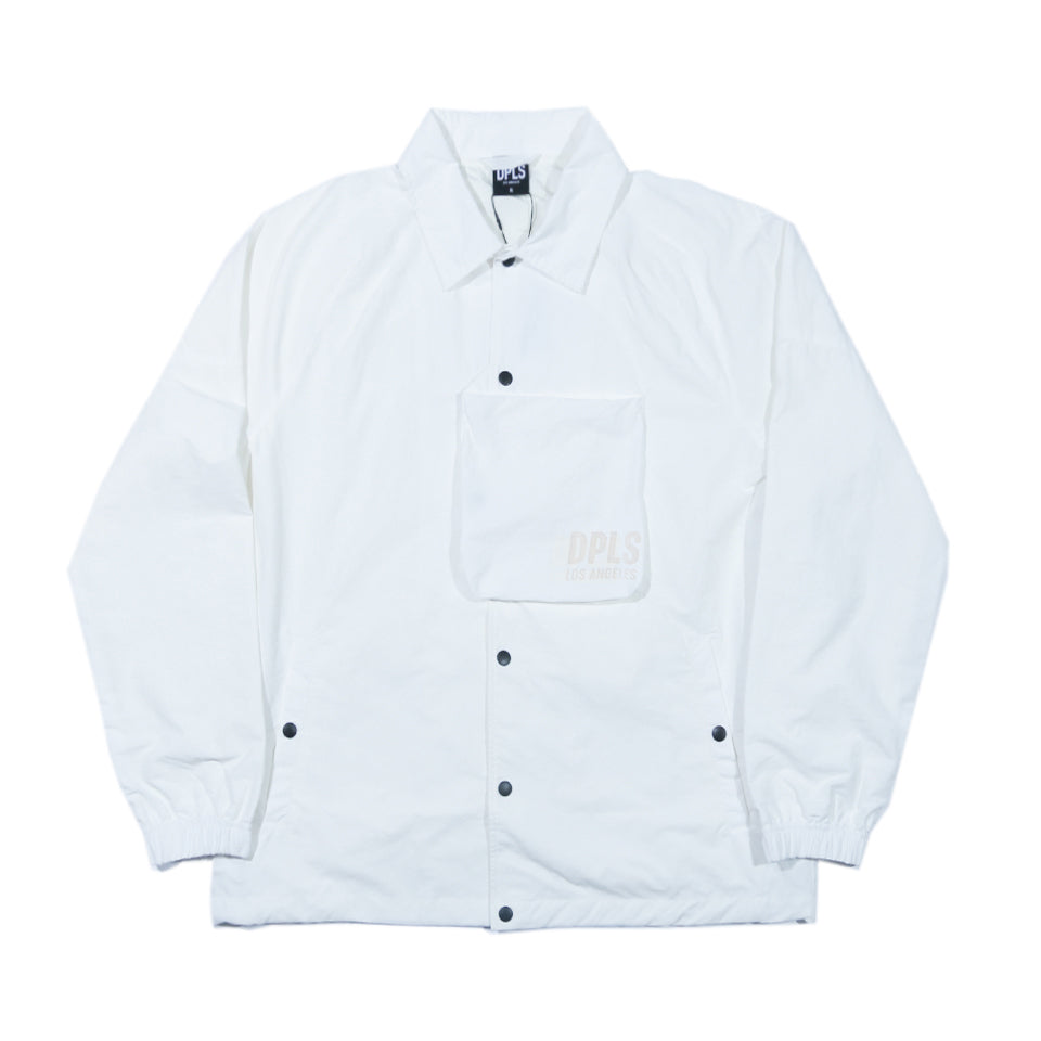 DPLS TECH COACH JACKET - WHITE