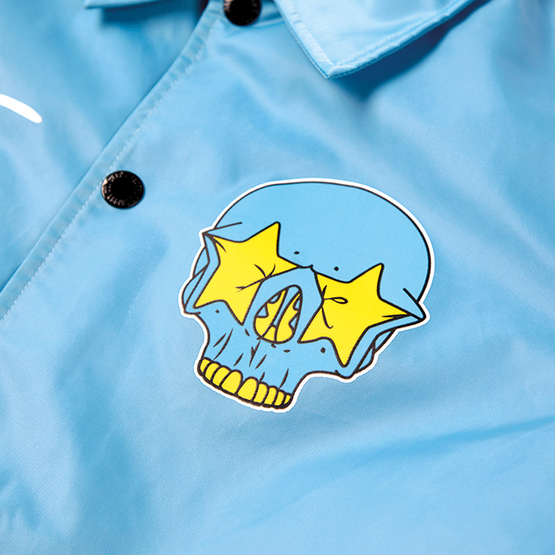 RON ENGLISH STAR SKULL COACH JACKET - BLUE (1590776135751)
