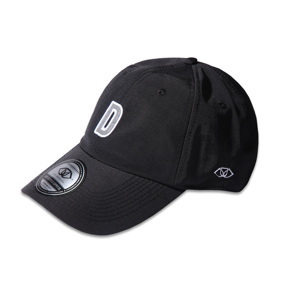 """D"" POLO CAP - BLACK"