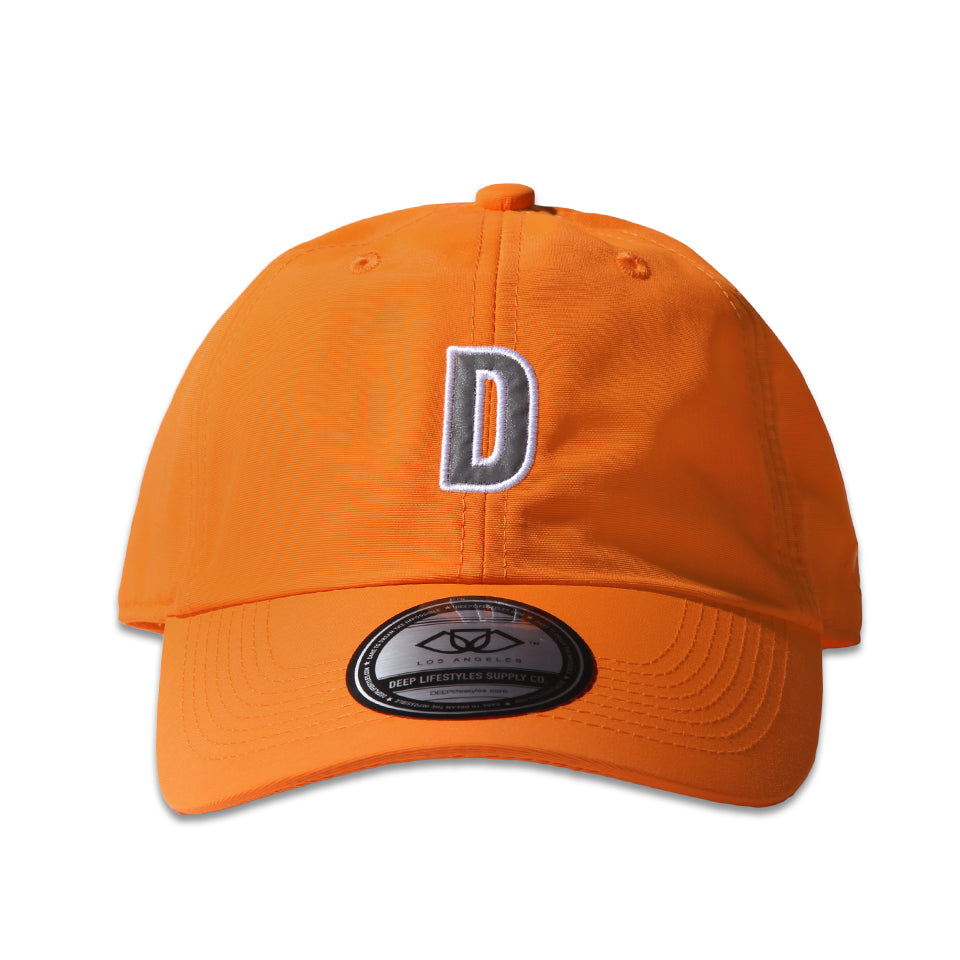 """D"" POLO CAP - NEON ORANGE"