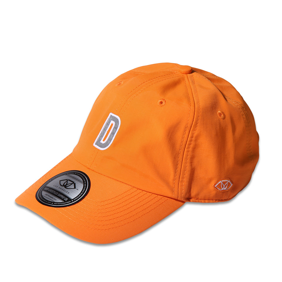 """D"" POLO CAP - NEON ORANGE (1472509050951)"