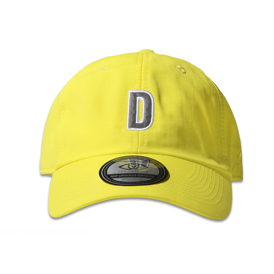 """D"" POLO CAP - NEON YELLOW (1472509214791)"