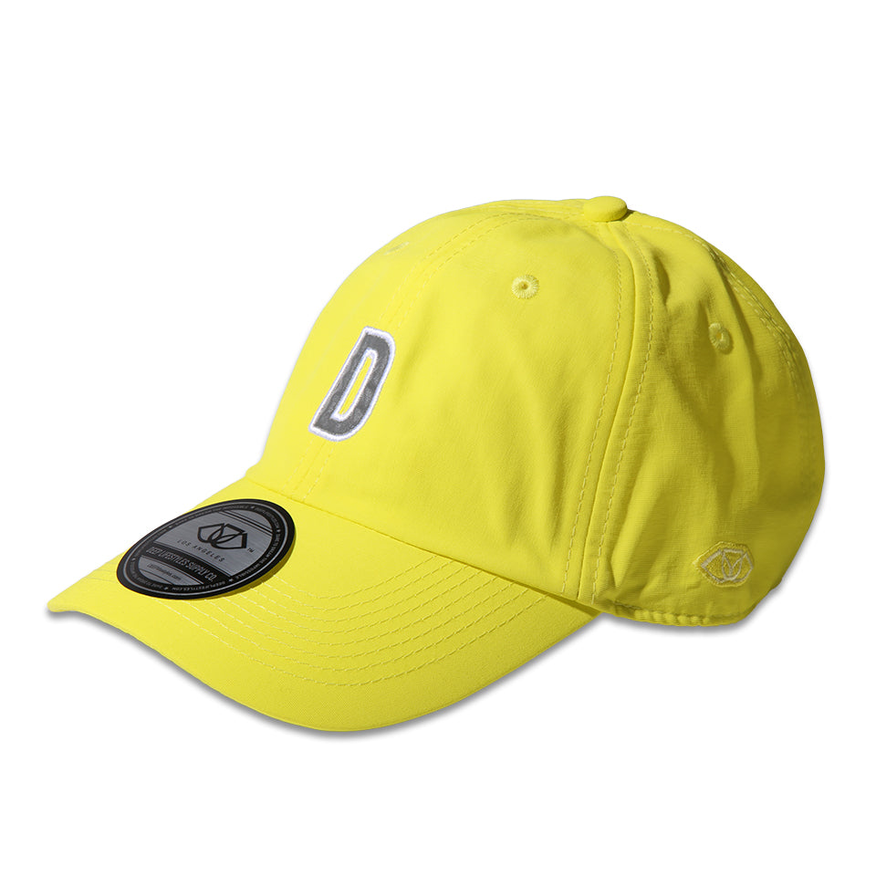 """D"" POLO CAP - NEON YELLOW"