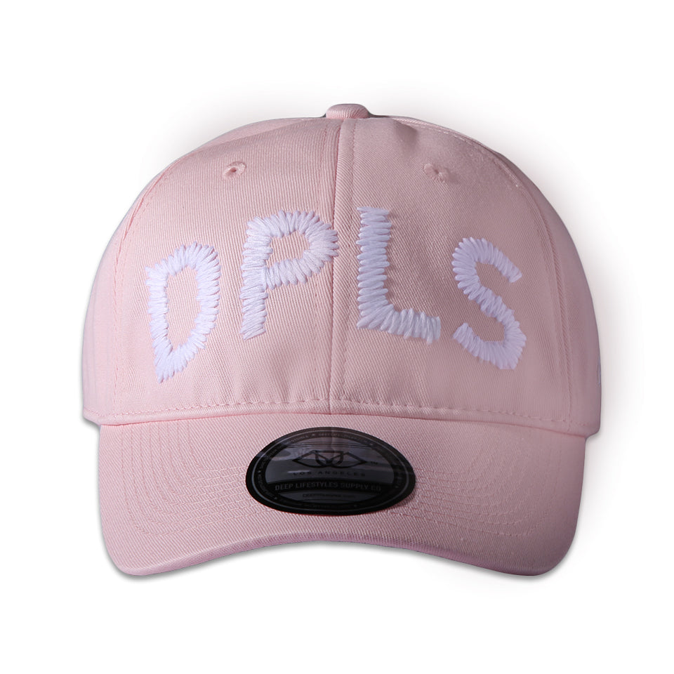 LARGE PRINT POLO CAP - PINK (1472508198983)