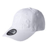 LARGE PRINT POLO CAP - WHITE (1472507936839)