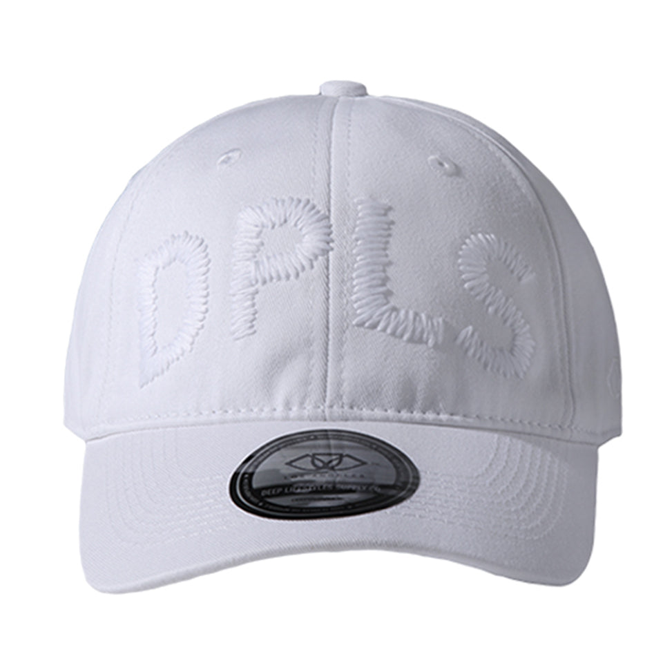 LARGE PRINT POLO CAP - WHITE