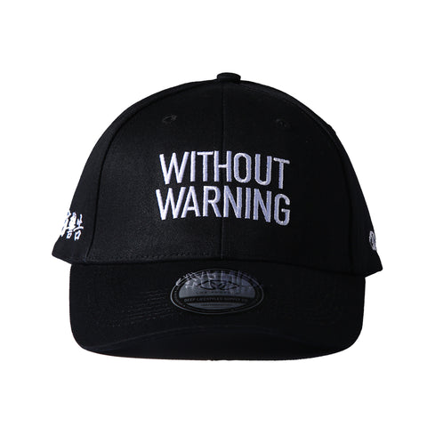 WITHOUT WARNING POLO CAP - BLACK
