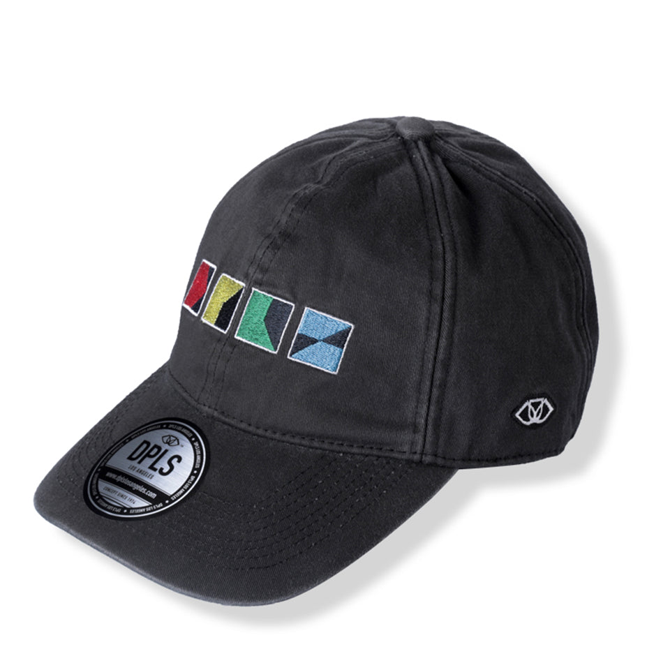 CMYK POLO CAP - BLACK (1487352791111)