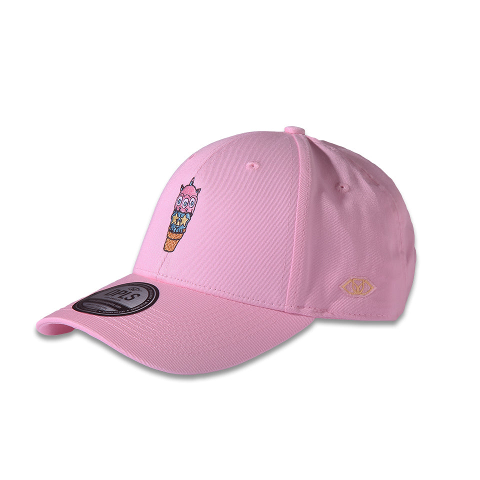RON ENGLISH ICE CREAM CONE POLO CAP - PINK