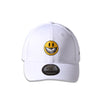 RON ENGLISH SMILEY FACE POLO CAP - WHITE (1590784786503)