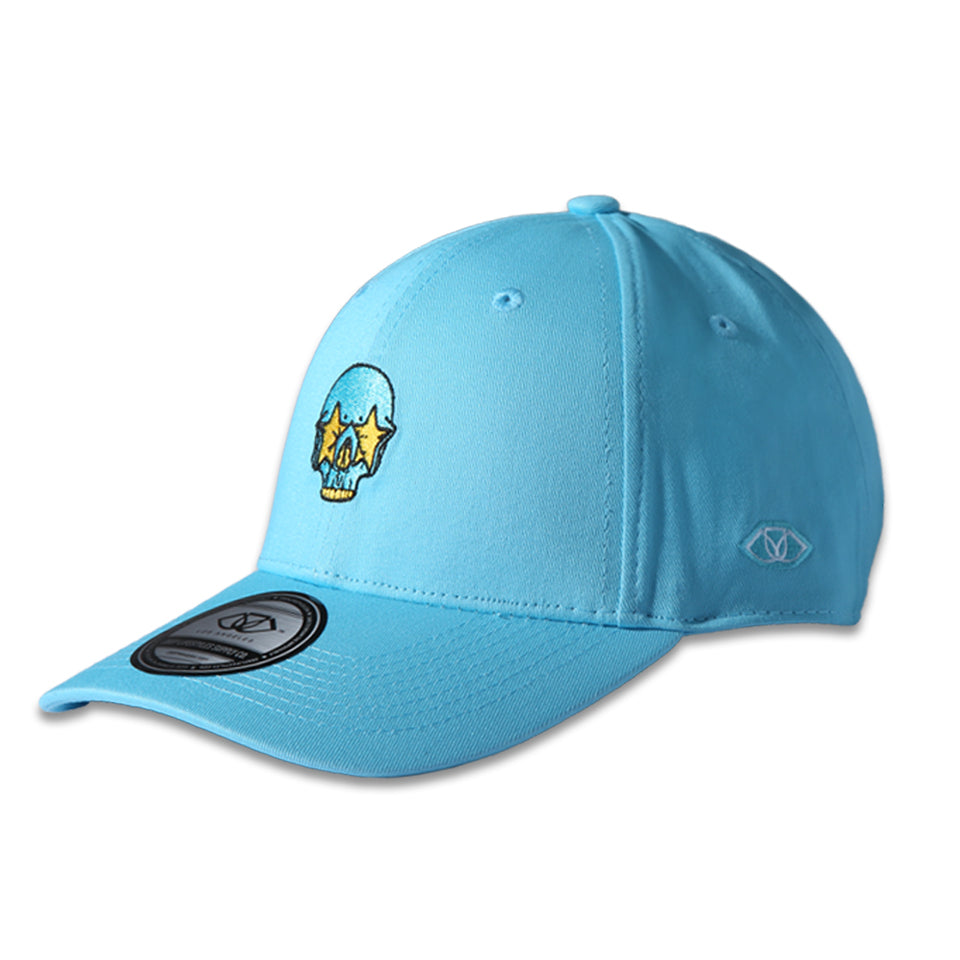 RON ENGLISH STAR SKULL POLO CAP - BLUE