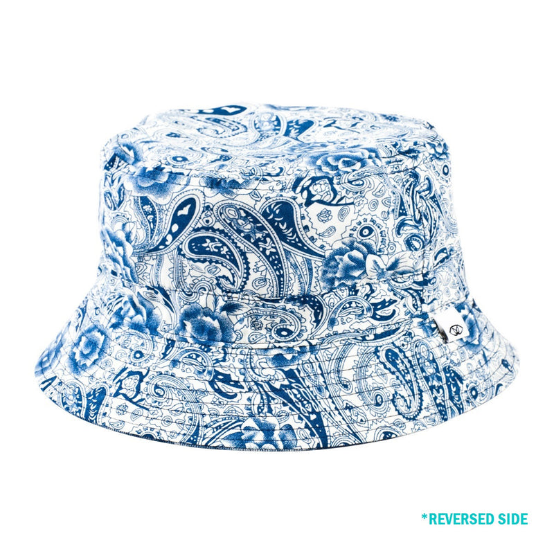 Reversible Denim Cloud Alegra Bucket Hat (Reversed)