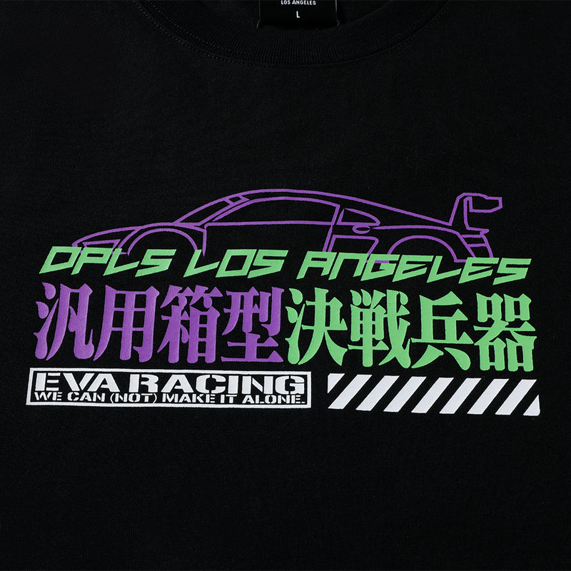 DPLS X EVA RACING TEE - BLACK