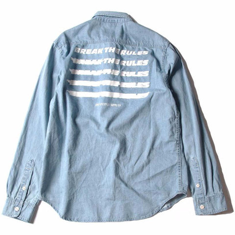 BREAK THE RULES DENIM SHIRT