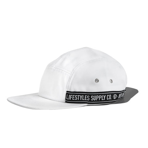 DPLS WOVEN TAPE CAMPER HAT - WHITE