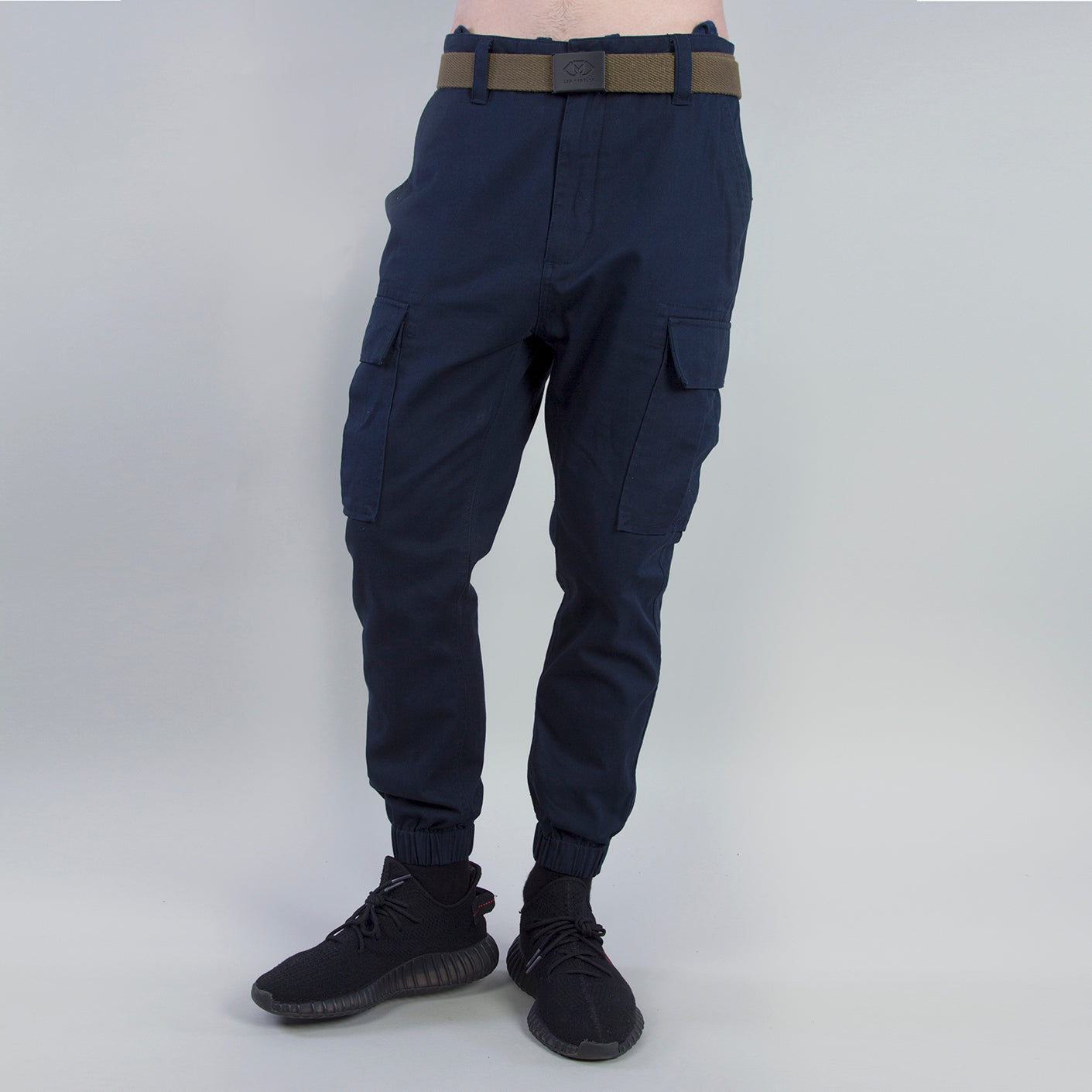 WOVEN ARMY JOGGERS - NAVY