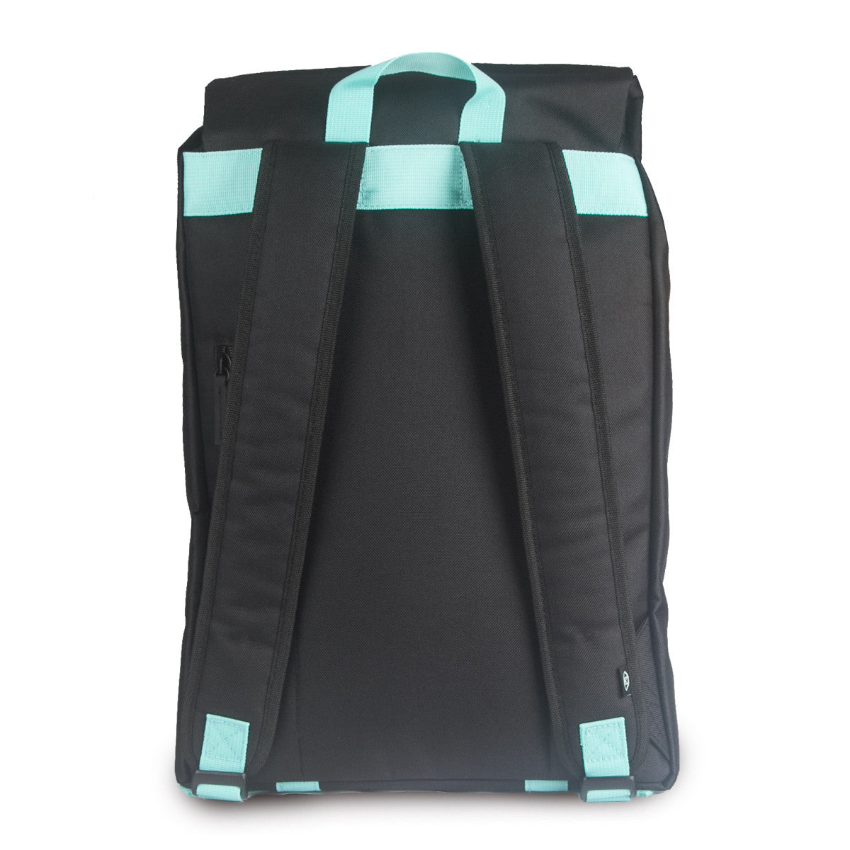 Black and DEEP Aqua Adventure Backpack (Back)