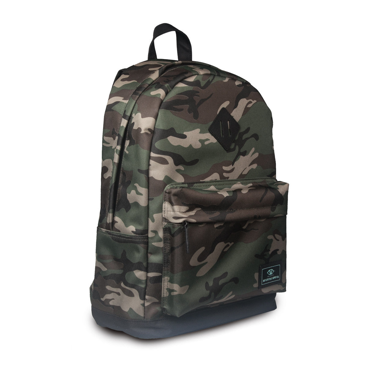 Classic Camo Backpack (Angled)