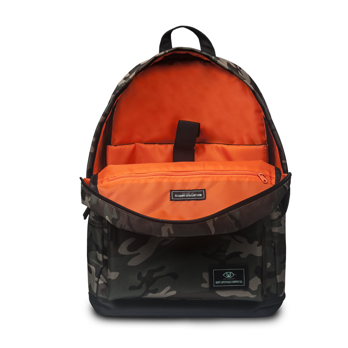 Classic Camo Backpack (Inside-Orange)