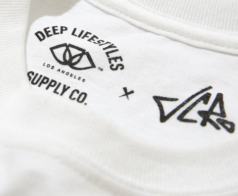 JC Ro X DEEP MJ Wing Tee - WHITE