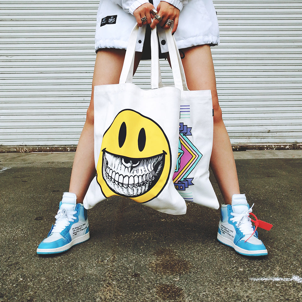 TOTE BAG - SMILEY FACE