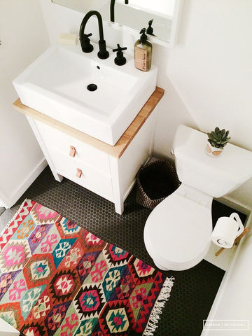 kilim rug for the bathroom