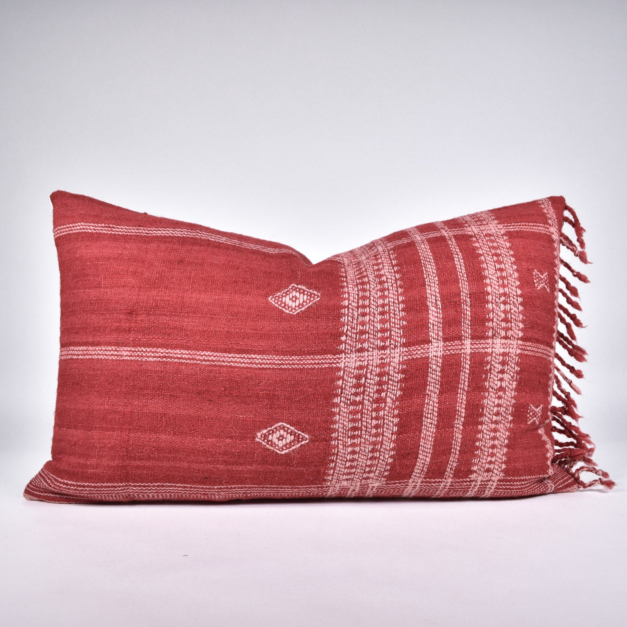 Red Bhujodi Pillow - Rug & Weave