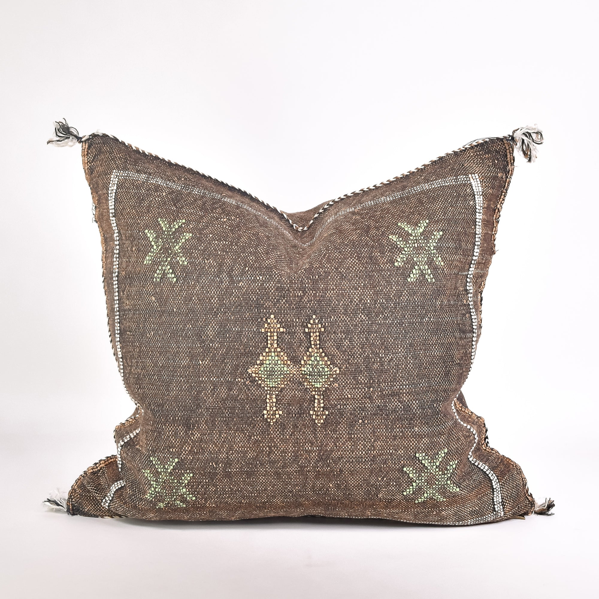 Brown Sabra Silk Pillow