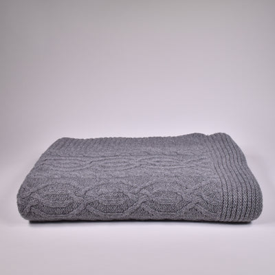 Cable Knitted Throw - Rug & Weave