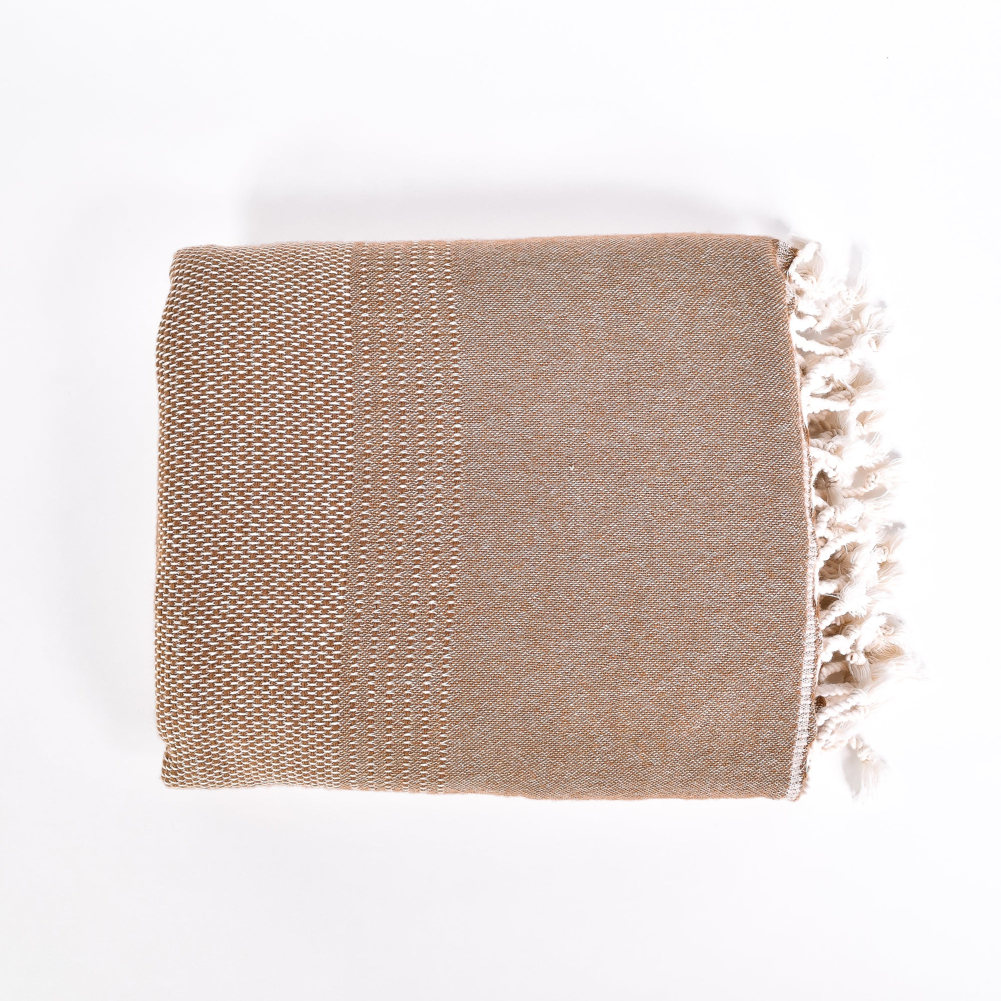 Tan Throw - Rug & Weave