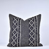 Black Mudcloth Pillow