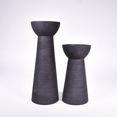 Grey Candle Holder w/ Candle - Rug & Weave