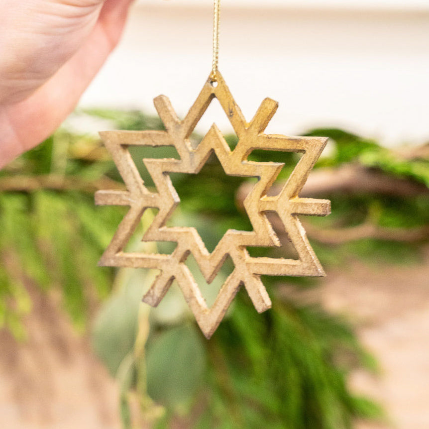 Snowflake Tree Ornament - Rug & Weave