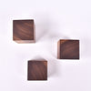 Square Walnut Wall Knobs Set of 3