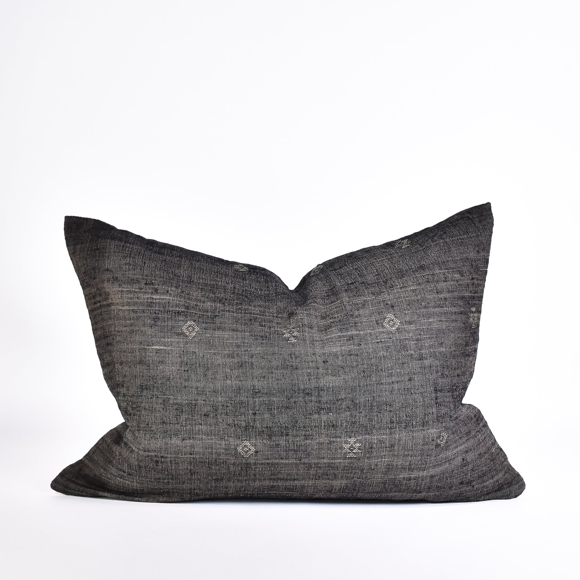 Forest Coal Tussar Pillow - Rug & Weave