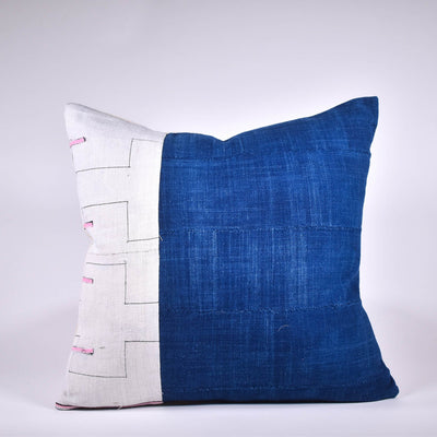 Vintage Hmong and Indigo Pillow