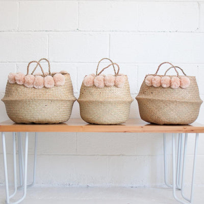 Seagrass Basket - Blush - Rug & Weave