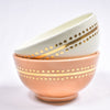 Medium Gold Caftan Ceramic Bowl