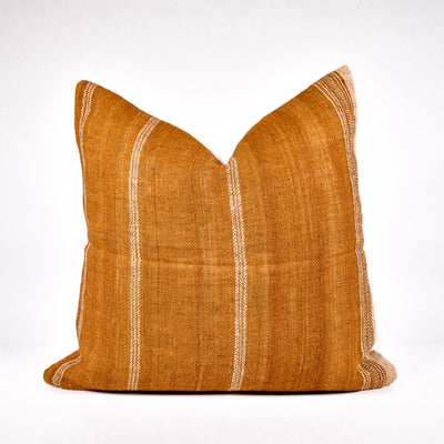 Caramel Brown Bhujodi Pillow - Rug & Weave