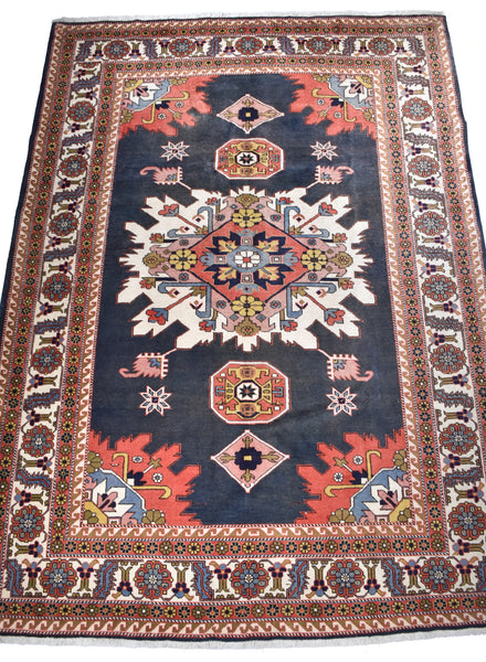 "Vintage Persian Malayer 4'6"" x 6'2"""