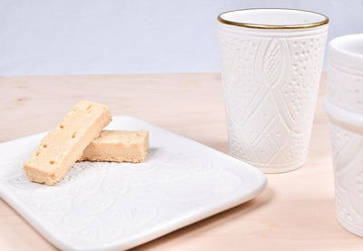 White Empreinte Ceramic Tray
