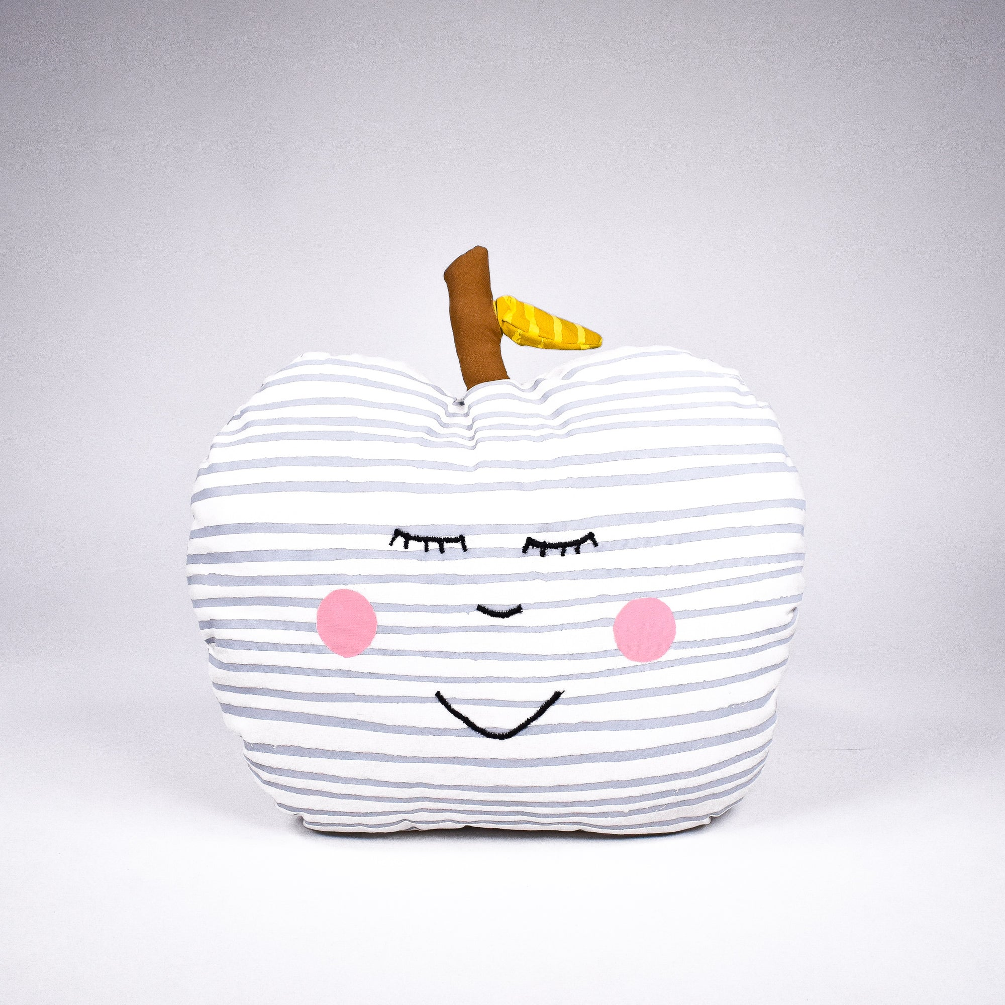 Apple Happy Face Pillow - Rug & Weave